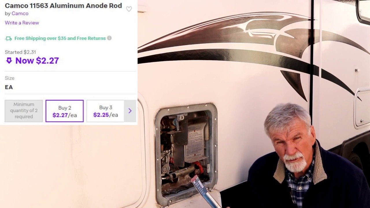 Rv Hot Water Anode Replacement Youtube