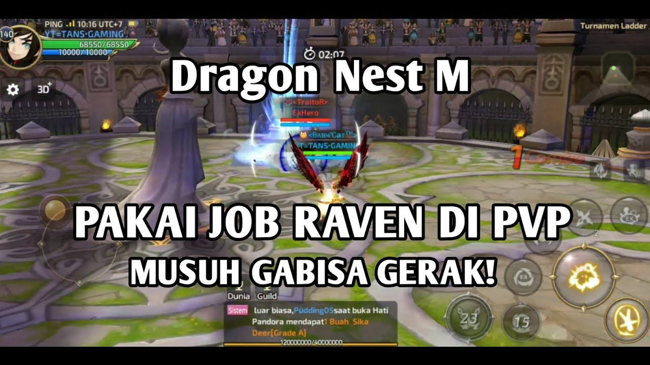 Ternyata Job Raven Enak Juga Buat PVP - Dragon Nest M
