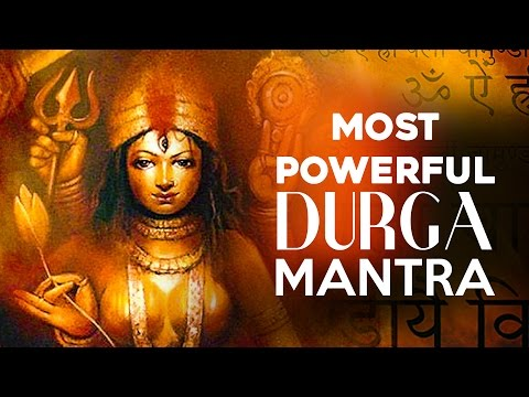 MOST POWERFUL Durga Beej Mantra OM AIM HRIM KLIM CHAMUNDAYE VICHE | Kali Mantra