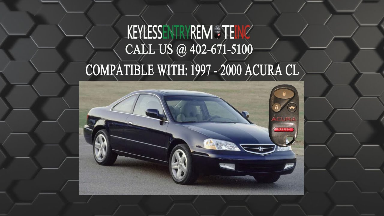 how to replace acura cl key fob battery 1997 2000 youtube