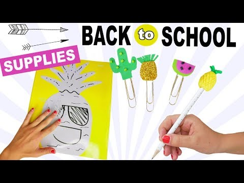 3 BEST DIY BACK TO SCHOOL SUPPLIES! Fun Pineapple Crafts For Kids