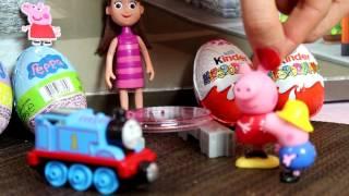 Bajka Świnka Peppa po polsku Tomek i Przyjaciele i Świnka Peppa George otwierają jajka niespodzianki
