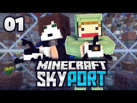EIN PROJEKT MIT UNGE & GLP - Minecraft SkyPort #01 | ungespielt