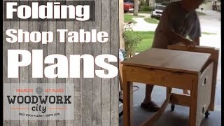 Folding Shop Table Plans