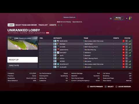 Dirtyracing f1 league race AUSTRIA
