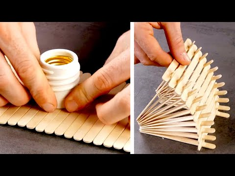 11 SUPER EASY PROJECTS WITH POPSICLE STICKS | CORK & WOOD CRAFTS | DECORATION IDEAS