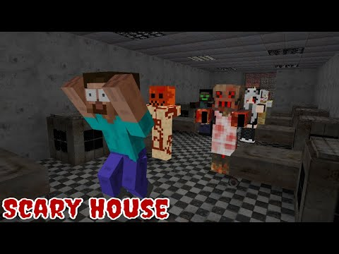 Monster School : Scary Halloween House - Funny Minecraft Animation