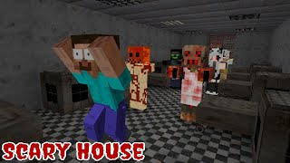 Monster School  Scary Halloween House - Funny Minecraft Animation