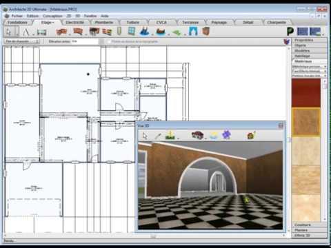 Architecte 3d choisir et ins rer les mat riaux youtube for Quel architecte 3d choisir