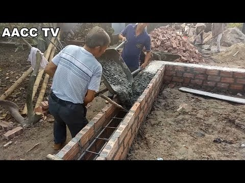 Amazing Technology Construction Concrete Beams Foundation -