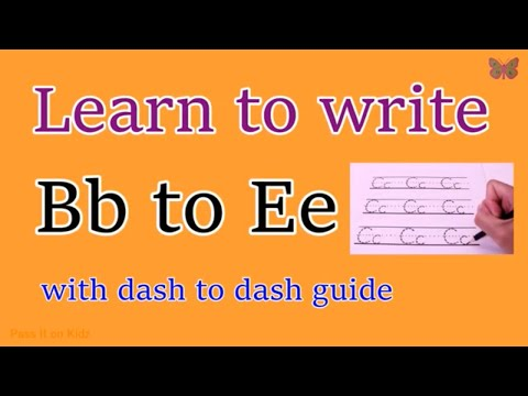 Learn To Write Letter Bb To Ee With Dash To Dash Guide | Writing Upper And Lower Case Bb To Ee.