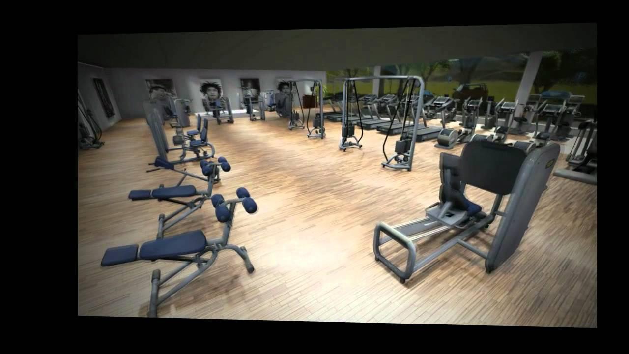 3d gym walkthrough video of a technogym fitness club youtube