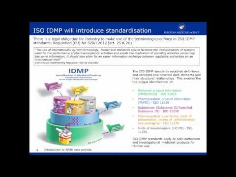 Implementing ISO IDMP: introduction to SPOR data services