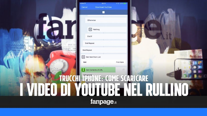 video da youtube e salvarli nel rullino