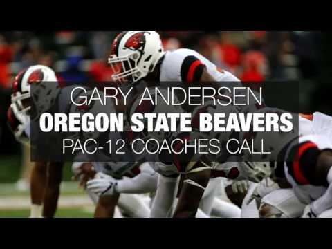 Oregon State Beavers coach Gary Andersen previews Boise State