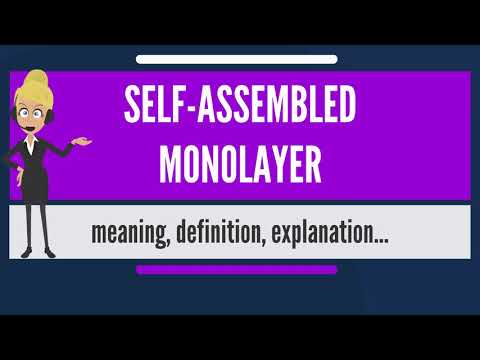 What is SELF-ASSEMBLED MONOLAYER? What does SELF-ASSEMBLED MONOLAYER mean?