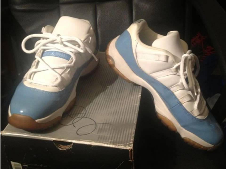 cba3ee5e7149de 2001 Nike Air Jordan Retro XI Low CAROLINA BLUE UPC  136053-141 ...