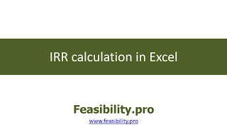 irr calculation in excel