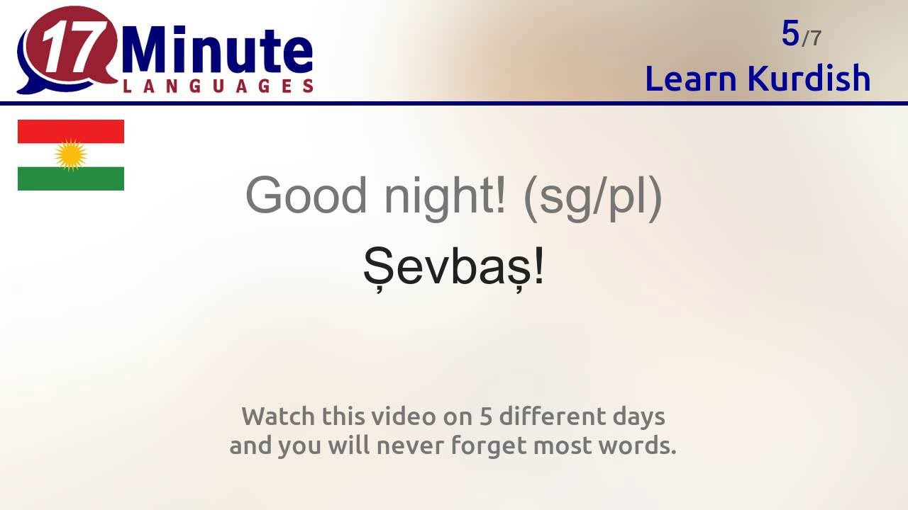Learn kurdish badini language