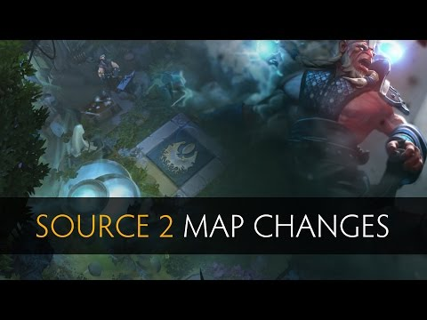Dota 2 - Source 2.0 Map Changes (Old Vs New)