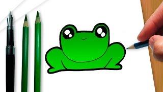 Cómo dibujar un kawaii sapo