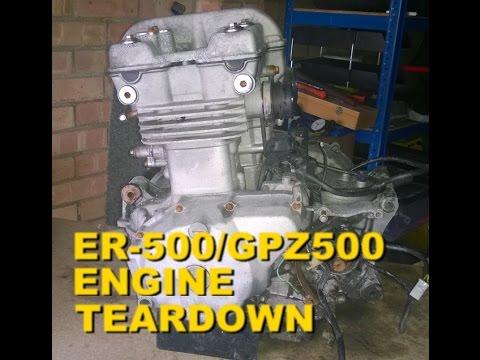 Kawasaki ER-5 / KLE 500 / GPZ 500 / EX 500 - Engine TEARDOWN - Part 5 Clutch teardown