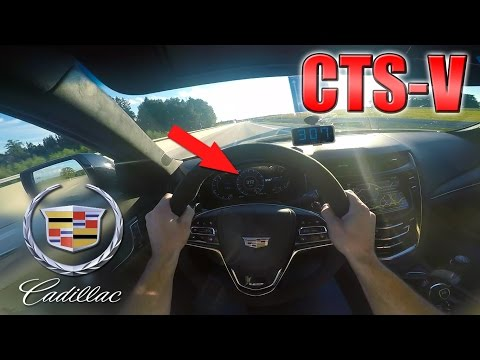 BRUTAL 2016 Cadillac CTS V 0 315 km h POV Autobahn Acceleration TEST