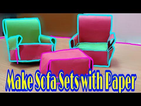 How To Make A Paper Sofa Easy | Origami Sofa sets | DIY Miniature Sofa | DIY Paper Chair