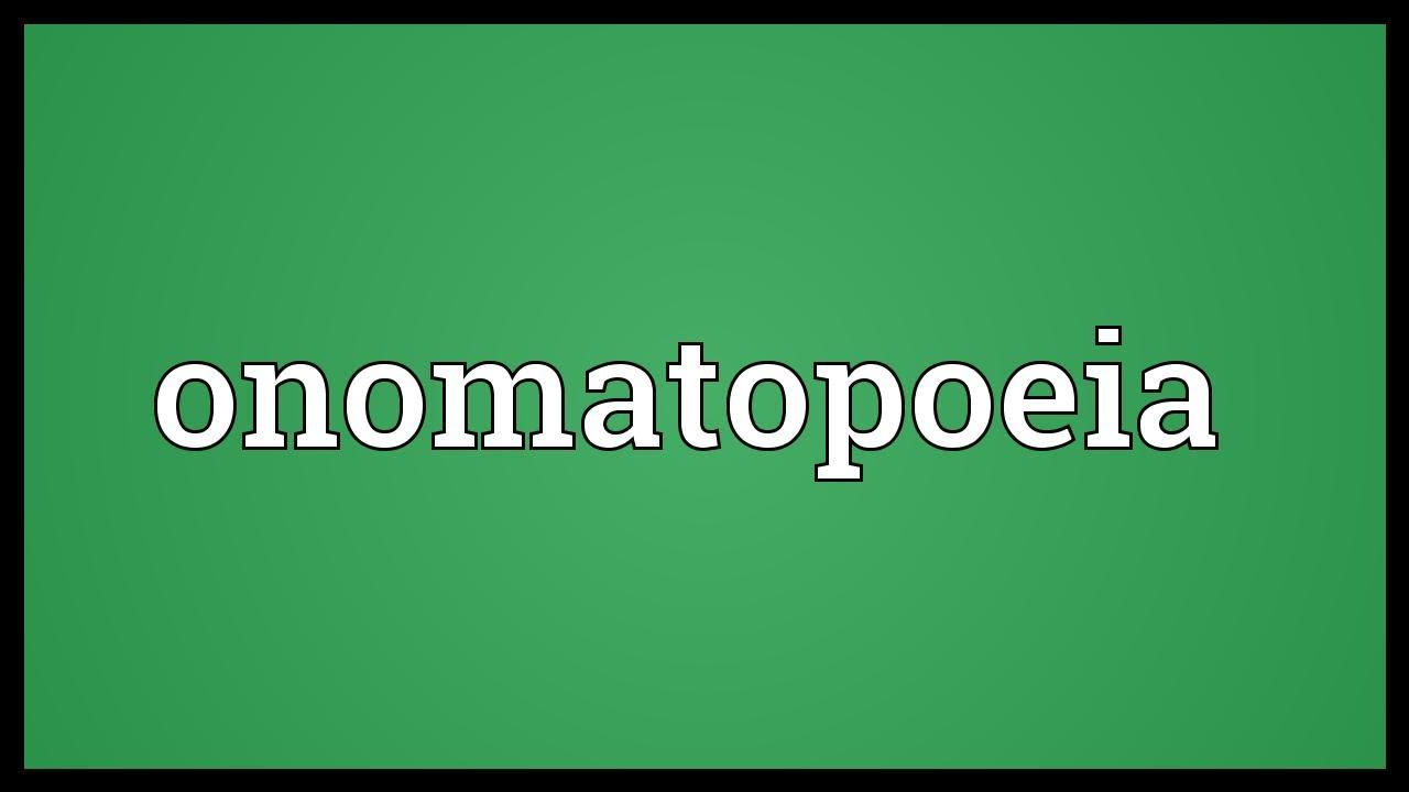 Onomatopoeia Meaning Youtube