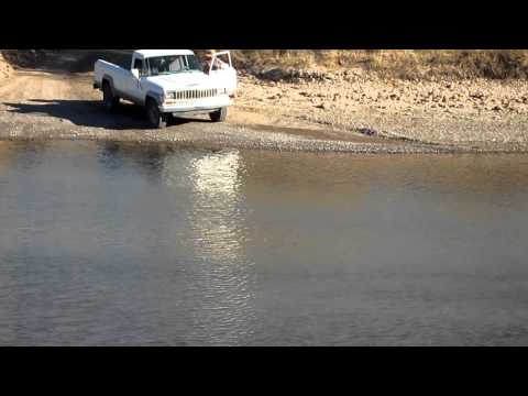 Water crossing Jeep J20