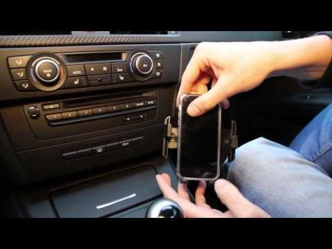 BMW 2007-2013 3-series (E9X) With NAV InDash Phone Holder Installation By GTA Car Kits