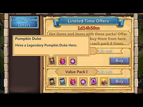 Castle Clash Pumpkin Duke For $5?!?! | I'll Buy You Pumpkin Duke