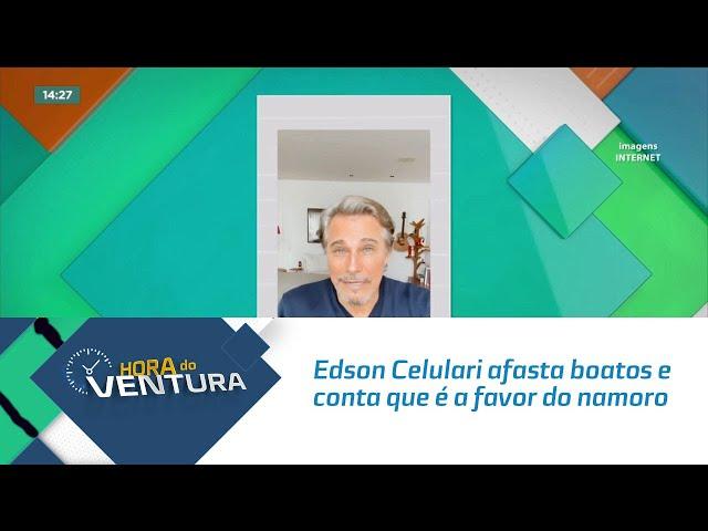 Edson Celulari afasta boatos e conta que é a favor do namoro do filho com Marquezine