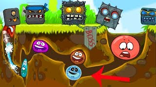 Red Ball 4 : (Blue + Pink + Ghost Mode) Basketball 'Fusion battle' with 'ALL 20 BOSSES'