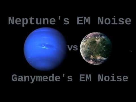 Space Sounds: Neptune's EM Noise Vs Ganymede's EM Noise ( 12 Hours )