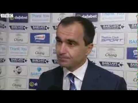 Everton vs Chelsea 1-0 - Roberto Martinez (14-09-13)