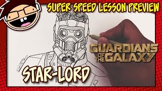 Lesson Preview: How to Draw STAR-LORD (Guardians of the Galaxy) | Super Speed Time Lapse Art