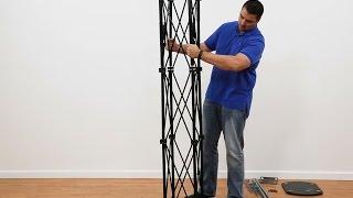 TV Stand Assembly w/ Modern Truss Design