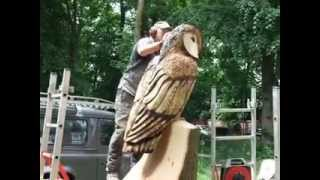 Tim Burgess, chainsaw sculptor
