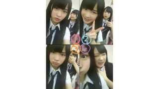 NMB48 中野麗来ちゃんと松岡知穂ちゃんの4コマ写真劇場です。