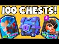 Clash Royale 100 SUPER MAGICAL CHESTS OPENING | BUYING / GEMMING LEGENDARY CARDS UNLOCKED