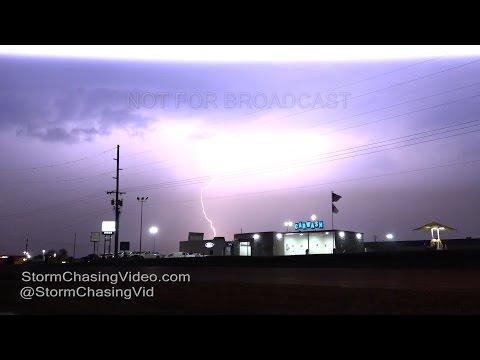 Anna, IL Lightning and Rain After Dark - 10/26/2016