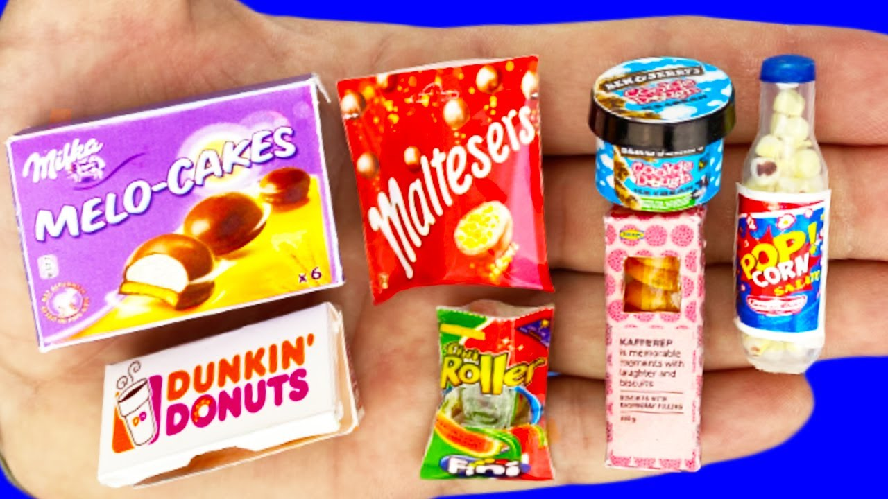 BEST DIY MINIATURE FOOD COLLECTOIN AND REALISTIC HACKS AND CRAFTS FOR DOLLHOUSE !!!
