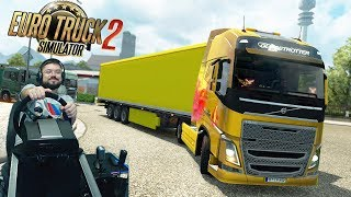 Закрытый конвой в компании РосНефть Euro Truck Simulator 2 Онлайн + руль Fanatec CSLElite