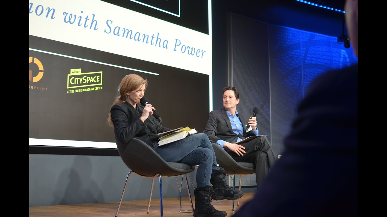 NEID Conversation with Samantha Power at CitySpace