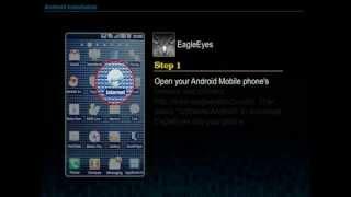 Demonstratie van de installatie van Eagle Eyes op de Android telefoon