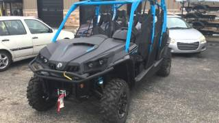 2016 Can-Am Commander MAX XT 1000 in Matte Black / Octane Blue