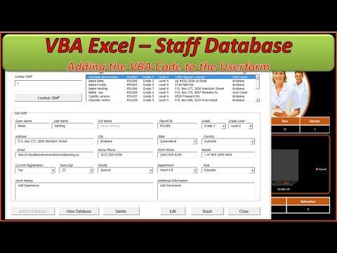Staff Database