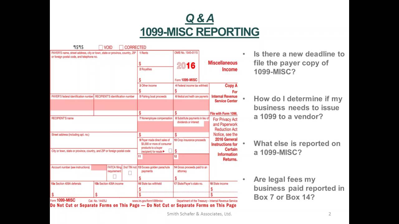 1099-Misc Reporting Questions & Answers - YouTube