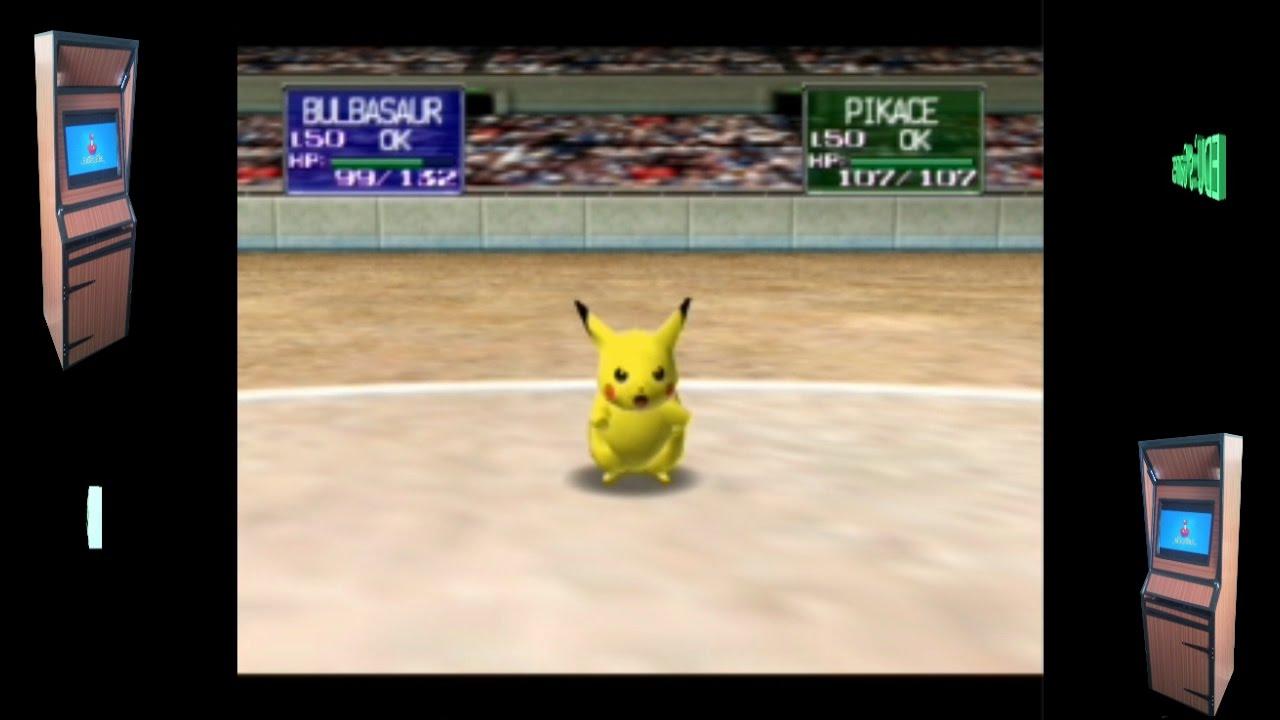 Pokémon Stadium n64 Retropie Rom Pack gameplay